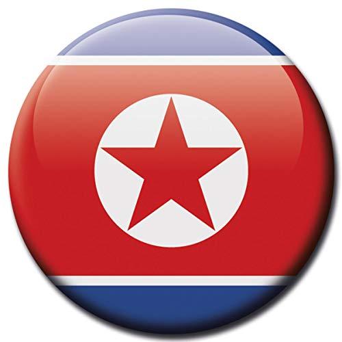 Kühlschrankmagnet Flagge Nord Korea Magnet Länder Flaggen Reise Souvenir für Kühlschrank stark groß 50 mm