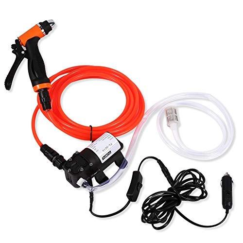 Vobor Elektrische Autowaschpumpe - Hochdruckreiniger 12 V Tragbarer selbstansaugender Hochdruckreiniger for die schnelle Reinigung der Wasserpumpe