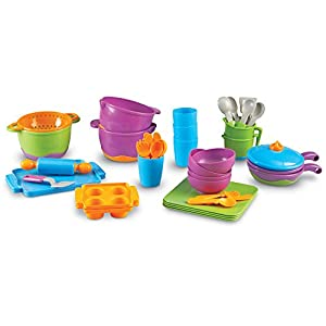 learning resources new sprouts classroom kitchen set - 41CmXIf D L - Learning Resources New Sprouts Classroom Kitchen Set
