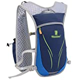 Yijinstyle Mochila de Hidratación Ligero Unisexo Chaleco para Trail Running Mochila de Ciclismo Marathoner al Aire Libre (Azul, 37 * 20CM)