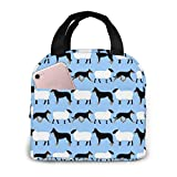 Basic Beaucerons And Sheep Blue Insulated lunch bags for Men/Women,Leakproof Cooler Bag Lunch Tote for Work Picnic or Travel