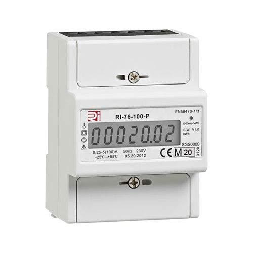1-PHASEN-Wechselstromzähler Hutschiene 5/100 Amp. MID geeicht 19