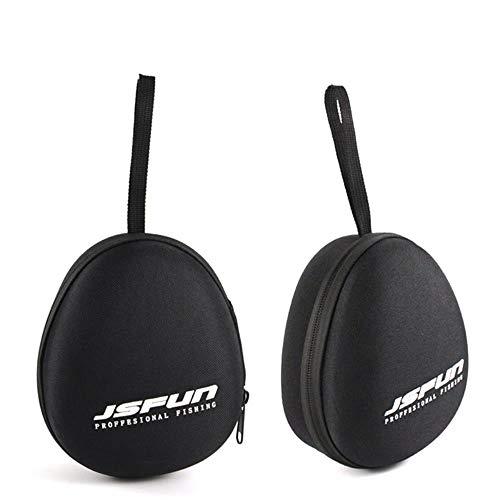 Bolsa de carrete de pesca EVA portátil Funda protectora para tambor/spinning/balsa carrete bolsa de pesca accesorios de pesca PJ74, negro