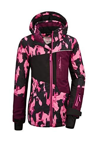 Killtec Mädchen Flumet GRLS Ski Jckt B Funktionsjacke Mit Kapuze Und Schneefang, neon pink, 152
