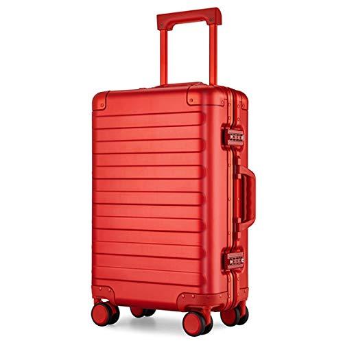 All Aluminum Alloy koffer Vrouwelijke Mode Aluminium Frame Trolley Case Metalen koffer Mannelijke Boarding Metal Lock, 20 Inch Trolley case