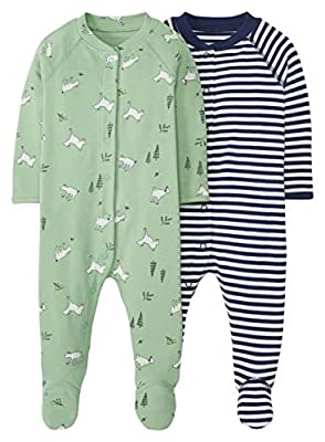 Hanna Andersson Baby Organic Footed Sleeper 2pk Graceful Goats -60