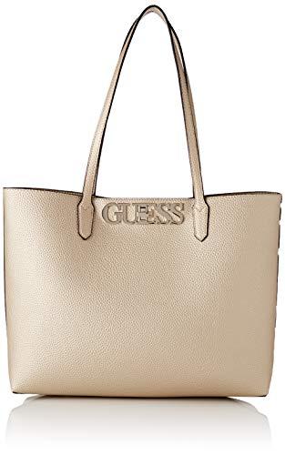 Guess Damen UPTOWN CHIC BARCELONA TOTE Handtasche, Gold, Einheitsgröße