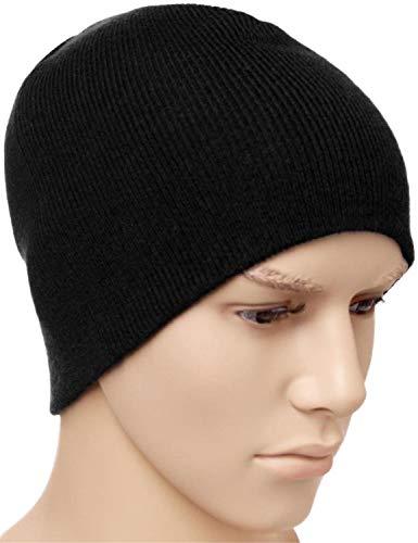 normani Wasserabweisende Wintermütze bis -30°C Kälte getestet wählbar One Size,Schwarz Farbe Strickmütze