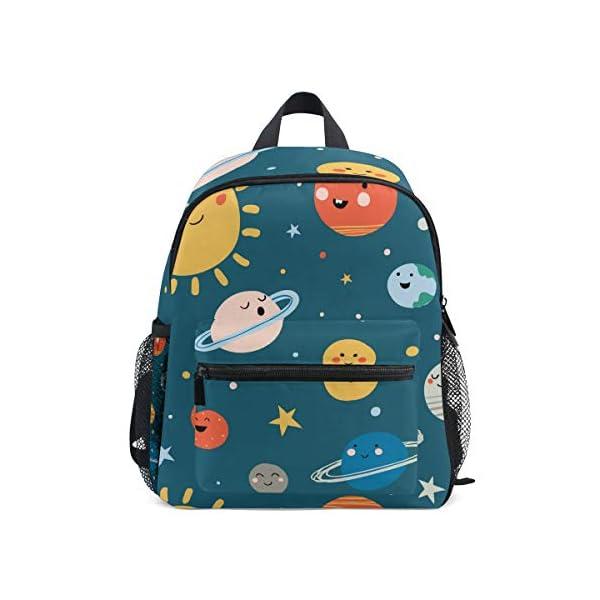 41CmZUvGRiL. SS600  - CPYang Mochila para niños con sistema solar Planet Emoji School Bag Kindergarten Preescolar Mochila para niños y niñas