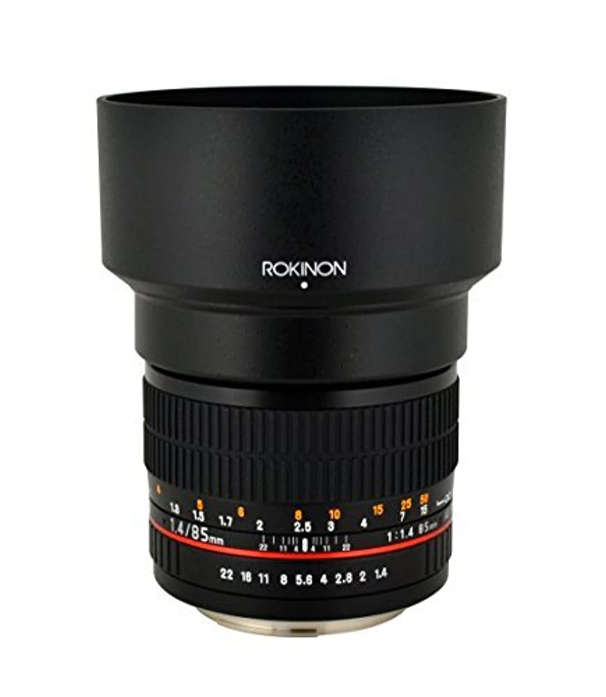 Rokinon 85MAF-N 85mm F1.4 Aspherical Lens for Nikon with Automatic Chip (Black)