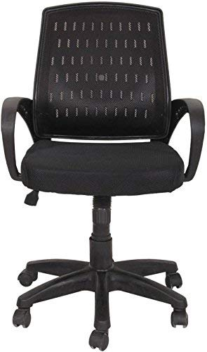 GTB BT-307 Office Chair (Netted Fabric, Netted Foam Fabric, Black)