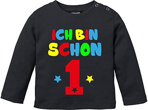 EZYshirt® Ich bin Schon 1 | Bio Baumwolle Baby T-Shirt Longsleeve