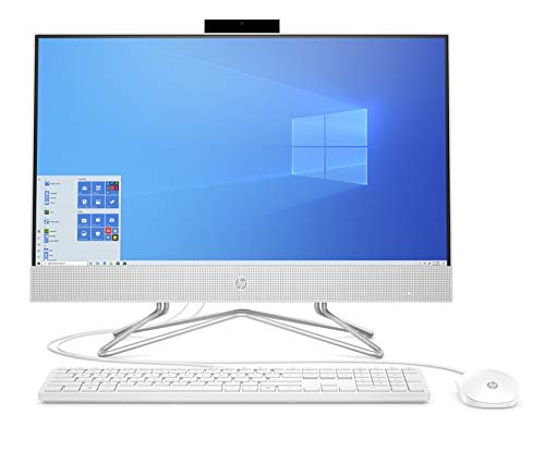 "HP - PC 24-df0030nl All-In-One, Intel Core i5-1035G1, RAM 8 GB, SSD 512 GB, NVIDIA GeForce MX 330 2 GB, Windows 10 Home, Schermo 23,8"" FHD IPS, USB, HDMI, RJ-45, Lettore Micro SD, Webcam, Bianco"