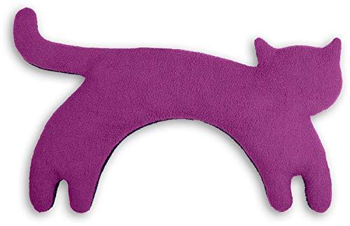 CUSCINO RISCALDABILE Leschi per la pancia e la schiena Per collo, cervicale e coliche dei neonati Per microonde, con semi di grano Minina la gatta, viola nero