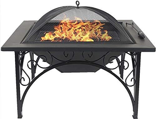Homeology KOJIN - Calentador de lujo para jardín y patio, multifuncional, elegante, color negro