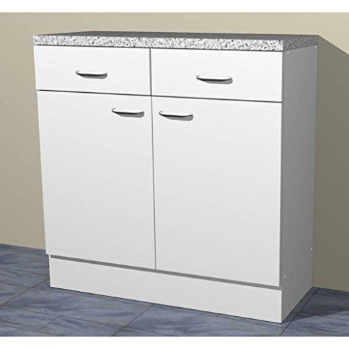 Küchenschrank in verschiedenen Breiten Start Melamin weiß/weiß (80cm breit)