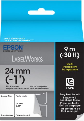 Epson LC-6TBN9 Epson Easy Peel Label Black on Clear Ink