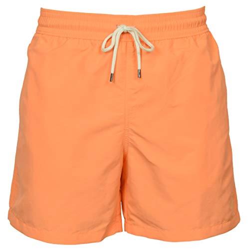 Polo Ralph Lauren Traveler Solid Herren-Badehose mit Innenbeinlänge von 14 cm, Größe XL, Orange