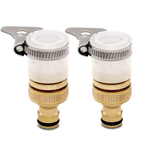 CT Universal Messing Wasserhahn-Adapter zum Anschluss des Gartenschlauchs an einen Wasserhahn ohne Gewinde Außendurchmesser