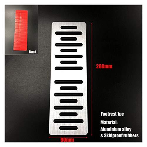ZXC Coche Combustible Freno Reposapiés Pedales for Audi A4 S4 S5 A5 8T Q2 Q3 Q5 SQ5 A6 C7 A7 S7 S6 4G A8 S8 4H Q7 Q8 for Porsche Cayenne Macan Atmósfera Simple (Color Name : Aluminum Rest 1pc)