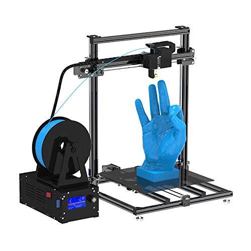 BESTSUGER Imprimante 3D, Imprimante 3D avec écran LCD de 3 Pouces, Taille d'impression 310 * 310 * 410mm avec Support Thermique et Bouton de Commande pour Bricolage