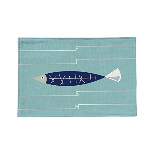 Vi.yo carré isoler napperon bleu foncé poisson modèle cuisine table à manger Mat Pad