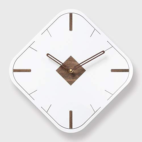 yaoyao Reloj de pared 30 cm, a la moda, sabor del arte nórdico, fácil madera amortiguadora, cuarzo, moderno, para la decoración del salón, comedor, dormitorio, cocina, estudio, escaleras, ropa, etc.