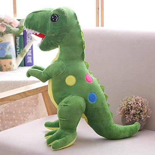 Mjia Pillow Gefüllte Plüsch Kissen Schlafkissen Kissen Kinder Komfort Spielzeug, niedlichen Dinosaurier Plüsch Spielzeug, Grün, 80 cm