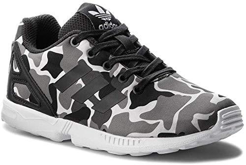 adidas Unisex-Erwachsene Zx Flux J Fitnessschuhe, Grau (Carbon/Carbon/Ftwbla 000), 38 2/3 EU