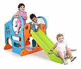 FEBER Famosa 800010247 - Activity Center - Aktivitätszentrum mit Spielzeugrutsche, für Kinder von...