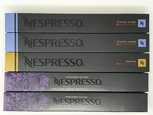 NESPRESSO ネスプレッソ カプセルコーヒーデカフェタイプ3種50カプセル並行輸入品 [並行輸入品]