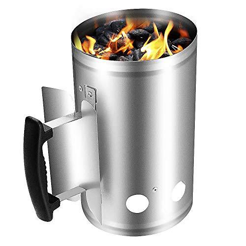 HaavPoois Encendedores de Carbón para Barbacoas y Ahumadores de Chimenea Briquetas con Mango de Nailon Seguridad para Weber 7416, para Acampar y Asar a la Parrilla