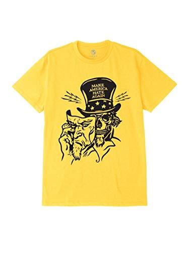 Obey T-Shirt Maniche Corte Uomo Make America Hate Again Sustainable Tee Yellow