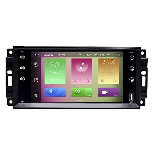 Für Jeep Wrangler JK Dodge Ram Herausforderer Chrysler Android 10.0 Octa Core 4 GB RAM 64 GB ROM 7