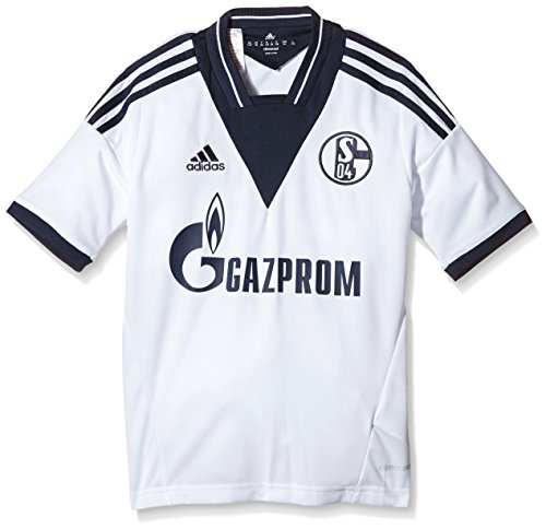 adidas Jungen Trikot FC Schalke 04 Away Jersey Youth, White/Collegiate Navy, 152