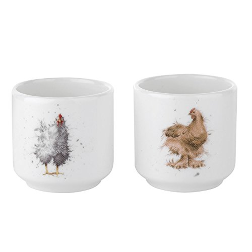 Wrendale Egg Cups S/2 (Chickens)