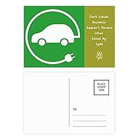 円形のプラグエネルギー自動車の環境を保護する 詩のポストカードセットサンクスカード郵送側20個