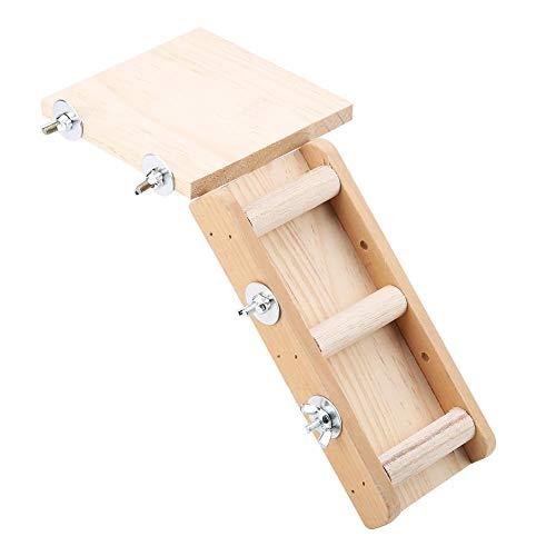 Mumusuki Holz Parrot Hamster Spielzeug Ladder Plattform Set Kleintier Spielzeug Klettern Kits für Vögel Hamster Spielen Erholung