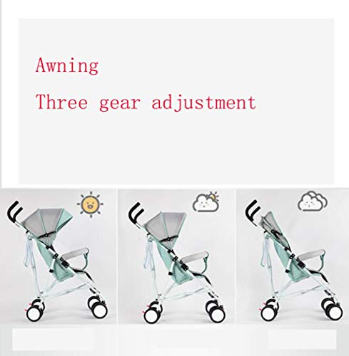 RAPLANC Umbrella Baby Stroller, Lightweight Compact, Stroller All Terrain Convenience Carriage Stroller, Travel Tall Pram for Toddler Big Kids Single Stroller,Red RAPLANC Convenient for children: ✔️Full-size large seat, multi-position reclining padded seat back, making the child comfortable and soft; longer awning with pop-up sun visor can better block glare and dust; durable High-quality fabrics and delicate hand-stitching make the stroller more comfortable. Convenient for parents: ✔️Storage basket for shopping/storing diapers; extra pockets can hold key mobile wallets; compact stroller frame can be easily folded in the trunk for convenient travel. Pushes smoothly in all terrains; automatically locks when folded; lightweight and easy for women to carry. Lighting function: ✔️Compared with other umbrella carts, it is equipped with baby handrails. Toddler's arms can rest comfortably on it. The armrest can be easily opened from the middle. The awning can be removed separately for cleaning. 7