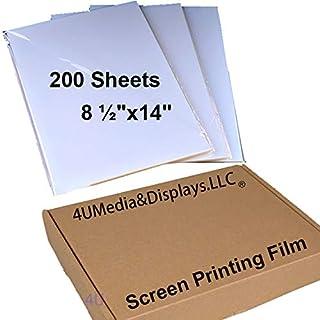 "$65 » 8 ½""x14"" 200 Sheets Waterproof Inkjet Transparency Silk Screen Printing Film Paper"