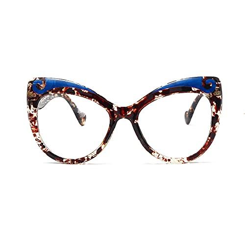 ShSnnwrl Único Gafas de Sol Sunglasses Moda Ojo De Gato Mujeres Montura De Gafas Lentes Transparentes Gafas Femeninas Montura De