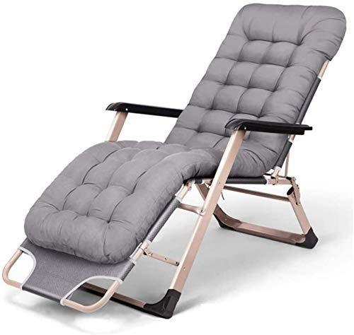 Silla de escritorio de oficina plegable reclinable con gravedad cero multifunción tumbona de jardín reclinable terraza de vacaciones silla de playa con almohadilla de algodón