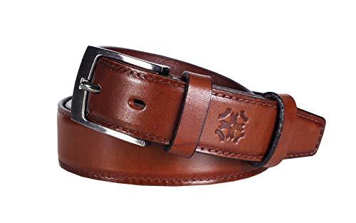 Lettro Cinturones Cuero Genuino para Hombres, Cinturón de Piel Curtida de Vestir para Hombres, Cinturón de Diario Elegante 100% de Cuero, Hechos en Europa