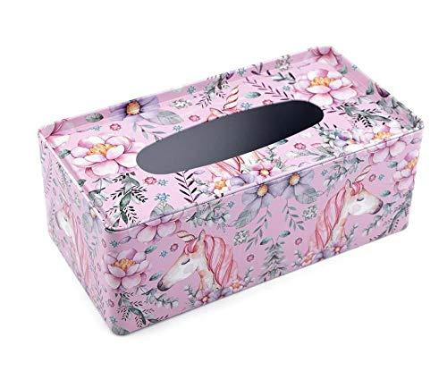1pc Vuelo Rosa Caja de Lata Para los Tejidos de Unicornio, Cajas, Bolsas de Regalo, Decoración