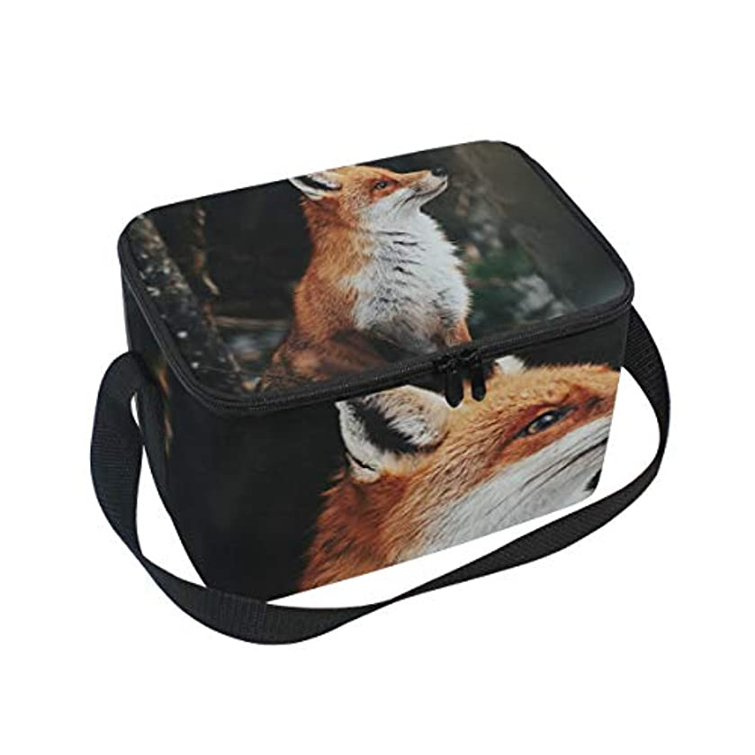 Beautiful Red Fox Portrait Lunch Box Insulated Lunch Bag Large Cooler Tote Bag Picnic School Women Men Kids