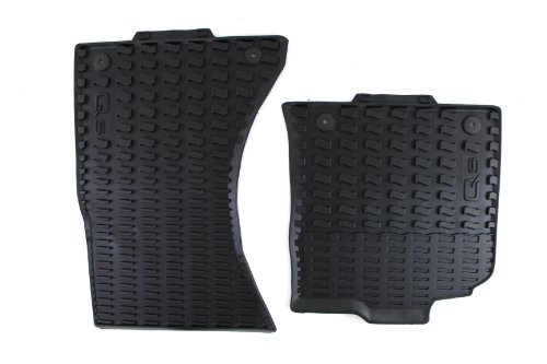Genuine Audi Accessories 8R1061221041 Black Rubber Front Floor Mat with Logo for Audi Q5