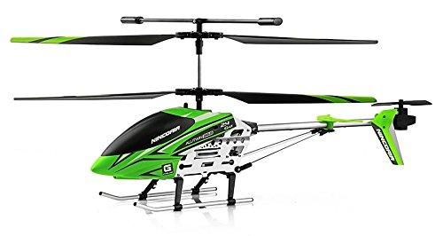 NincoAir - Helicóptero 365 Alutwin 2.4 GHz, Color Negro, Verde y Blanco (NH90068)
