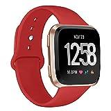 Deilin Armband für Fitbit Versa/Fitbit Versa Lite für Damen und Herren, Silikon Sport Armband...