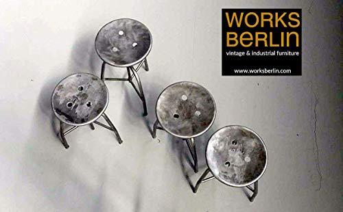Works Berlin - echte vintage Metallhocker, Arzthocker, Industrialhocker, höhenverstellbare Hocker