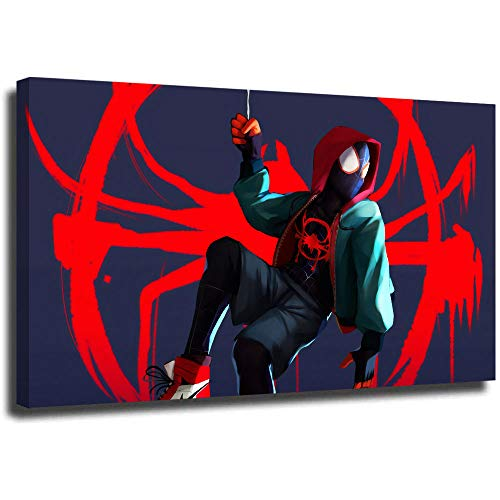 Modern Abstract Oil Painting Miles Morales Spider man. ,Giclee Canvas Prints Wall Art for Home Decor 24x18 inch